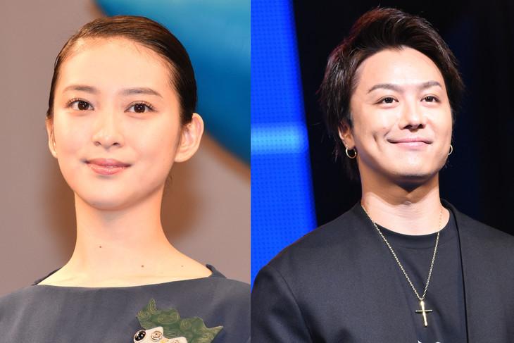 左から武井咲、EXILE TAKAHIRO。