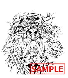 2週目に配布される色紙のビジュアル(オファニモン フォールダウンモード&ラグエルモン)。
