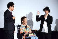左から松本准平、熊篠慶彦、リリー・フランキー。