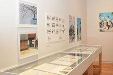 「第20回文化庁メディア芸術祭受賞作品展」より、「映画『聲の形』」展示ブースの様子。