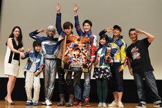 「宇宙戦隊キュウレンジャー Episode of スティンガー」完成披露上映会の様子。