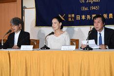 第30回東京国際映画祭JAPAN NOW部門記者会見の様子。
