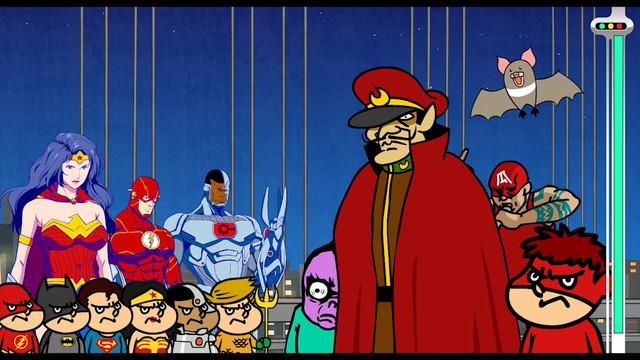 「DCスーパーヒーローズvs鷹の爪団」