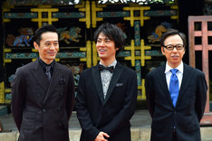 京都国際映画祭2017オープニングセレモニーの様子。左から三浦誠己、桐谷健太、板尾創路。