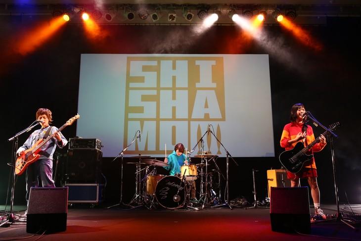 SHISHAMOのライブの様子。