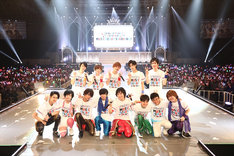 「KING OF PRISM SUPER LIVE MUSIC READY SPARKING!」の出演者たち。