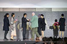 第22回釜山国際映画祭授賞式の様子。