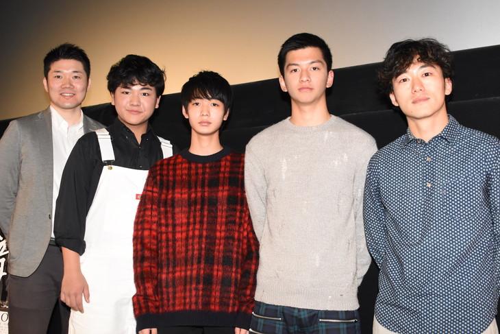 「アイスと雨音」イベントの様子。左から阿部広太郎、戸塚丈太郎、青木柚、田中偉登、松居大悟。