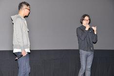 「アニメーションの音を聴く vol.2 映画『聲の形』-inner silence- ~牛尾憲輔氏 劇伴ライブ上映~」の様子。
