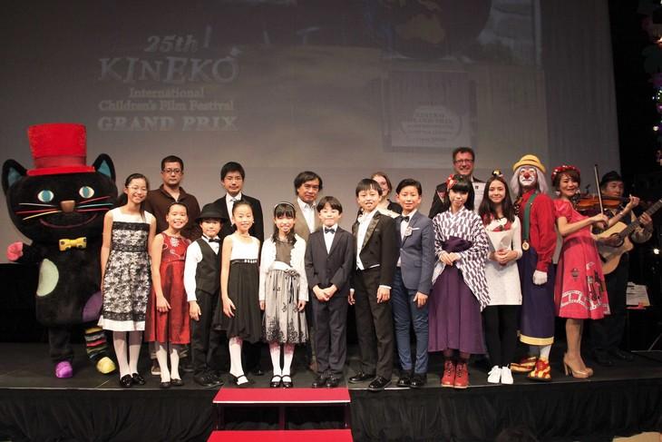 キネコ国際映画祭2017の授賞式の様子。