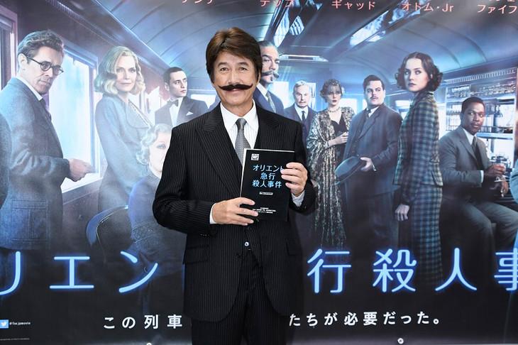 「オリエント急行殺人事件」公開アフレコに出席した草刈正雄。