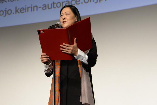 開会宣言をする林加奈子。
