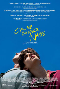 「Call Me by Your Name(原題)」海外版ポスタービジュアル