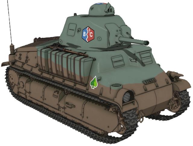 「ガールズ&パンツァー 最終章」に登場する新戦車・S35。