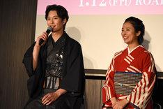 左から岡田将生、木村文乃。