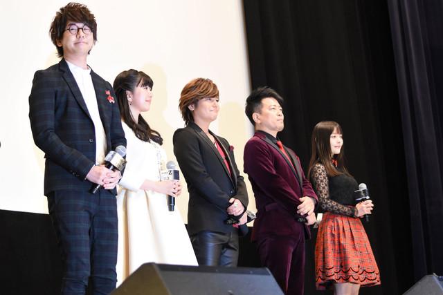 「劇場版 マジンガーZ / INFINITY」初日舞台挨拶の様子。