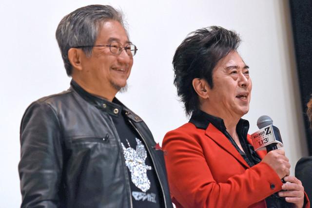 左から永井豪、水木一郎。