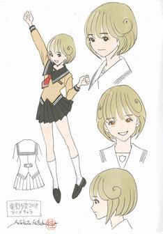 「電影少女 -VIDEO GIRL AI 2018-」劇中アニメのために、桂正和が描き下ろしたキャラクター原案。