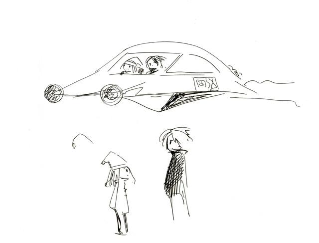 「エッジ・オブ・リバーズ・エッジ──〈岡崎京子〉を捜す」に西島大介が寄稿した作品のラフ。