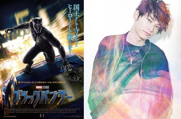 左から「ブラックパンサー」日本版オリジナルポスター、SKY-HI。