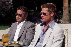 「オーシャンズ11」より、ジョージ・クルーニー扮するダニー・オーシャン(左)。