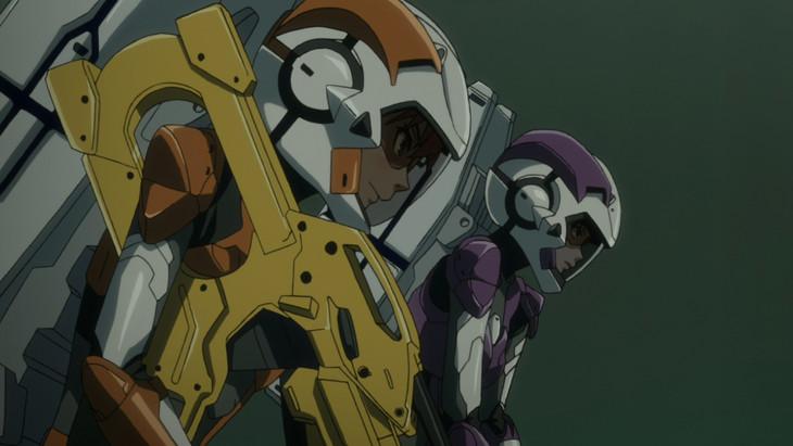 敵に向かっていく二人のダイバーの「A.I.C.O.」の画像