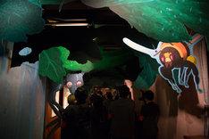 「毛虫のボロ」展示スペースの様子。