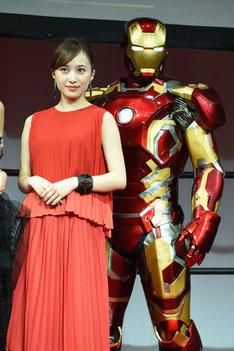 百田夏菜子とアイアンマン。