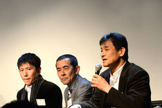 左から和田三四郎、野呂慎治、伊藤久仁康。