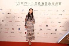 第42回香港国際映画祭に参加した田中麗奈。