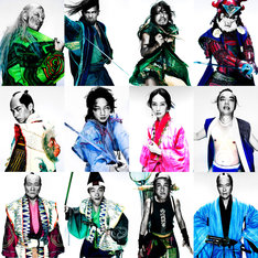 「パンク侍、斬られて候」各キャラクターのイメージビジュアル。(撮影:紀里谷和明)