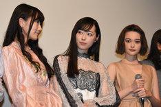 左から矢倉楓子(NMB48)、福原遥、玉城ティナ。