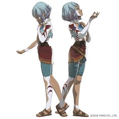 「GODZILLA 決戦機動増殖都市」に登場する双子の少女マイナ(左)とミアナ(右)。