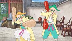 置鮎龍太郎と真殿光昭が演じるヌンとチャック。