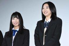 左から上野優華、武田玲奈。