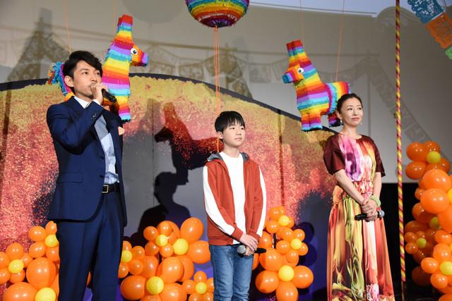 左から藤木直人、石橋陽彩、松雪泰子。