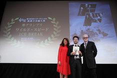 「第2回 BS10 スターチャンネル映画予告編大賞」授賞式の様子。