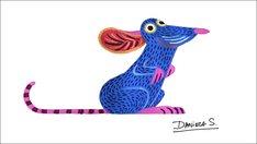 「リメンバー・ミー」のアレブリヘ風に描かれたレミー。