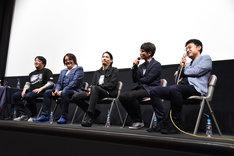 左から赤松義正、鈴村展弘、水上剣星、大森敬仁、谷中寿成。