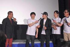 第10回沖縄国際映画祭「島ぜんぶでおーきな祭」での「ドーベルマン刑事」舞台挨拶の様子。