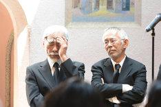 左から宮崎駿、鈴木敏夫。