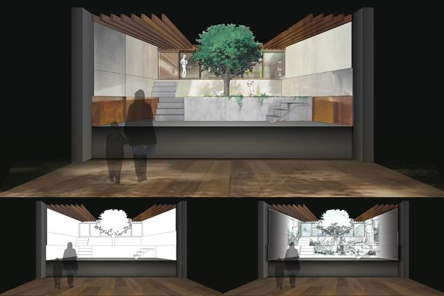 くんちゃん家の庭のイメージ画像。