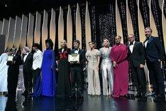 第71回カンヌ国際映画祭コンペティション部門授賞式の様子。