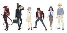 左からザムザ、エイスケ、ハル、レイ、アンナ、タイラ。