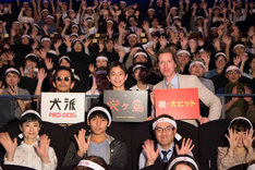 「犬ヶ島」初日舞台挨拶の様子。