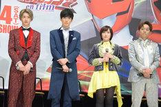 左から伊藤あさひ、濱正悟、工藤遥、元木聖也。