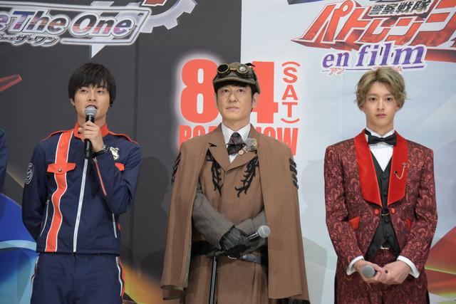 左から結木滉星、田中直樹、伊藤あさひ。