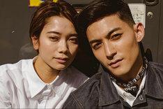 永瀬匡のInstagramに掲載された岩本ライラ(左)との2ショット。