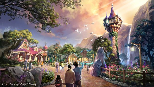 「塔の上のラプンツェル」をテーマとしたエリア。