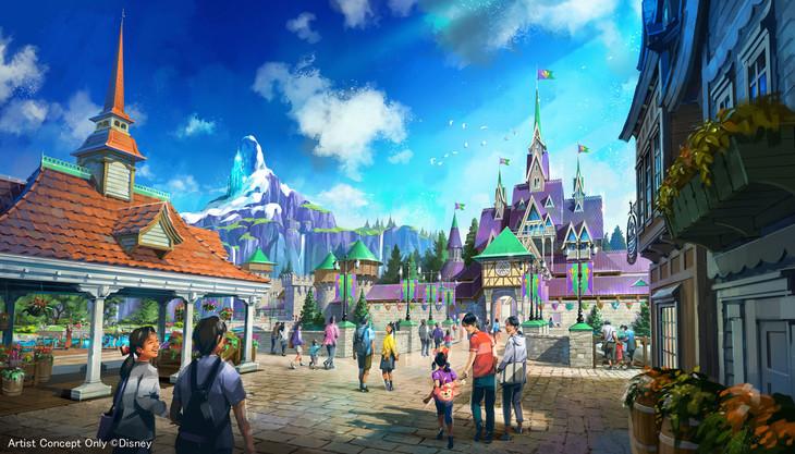 「アナと雪の女王」をテーマとしたエリア。